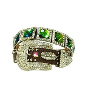 MultiColor Diamond Western Cowgirl Rodeo Bling